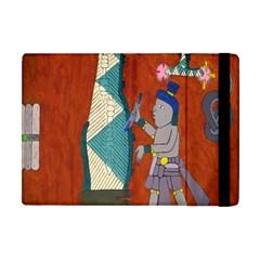 Mexico Puebla Mural Ethnic Aztec Apple Ipad Mini Flip Case