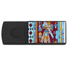 Mexico Puebla Mural Ethnic Aztec Rectangular Usb Flash Drive