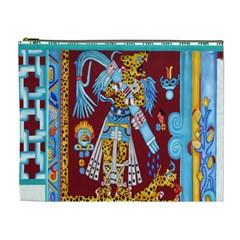 Mexico Puebla Mural Ethnic Aztec Cosmetic Bag (xl)