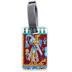 Mexico Puebla Mural Ethnic Aztec Luggage Tags (two Sides)