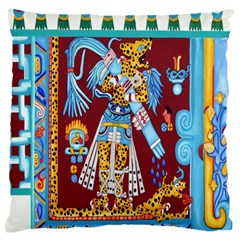 Mexico Puebla Mural Ethnic Aztec Large Cushion Case (two Sides)