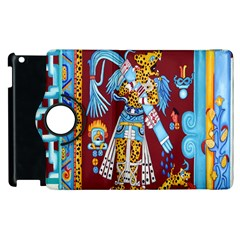 Mexico Puebla Mural Ethnic Aztec Apple Ipad 3/4 Flip 360 Case