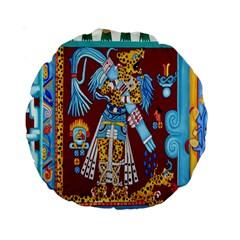 Mexico Puebla Mural Ethnic Aztec Standard 15  Premium Round Cushions