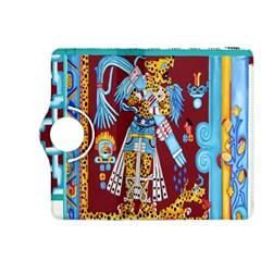 Mexico Puebla Mural Ethnic Aztec Kindle Fire Hdx 8 9  Flip 360 Case