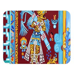 Mexico Puebla Mural Ethnic Aztec Double Sided Flano Blanket (large)