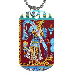 Mexico Puebla Mural Ethnic Aztec Dog Tag (two Sides)