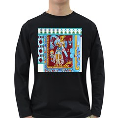 Mexico Puebla Mural Ethnic Aztec Long Sleeve Dark T Shirts