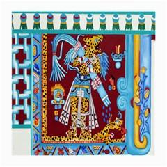 Mexico Puebla Mural Ethnic Aztec Medium Glasses Cloth
