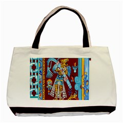 Mexico Puebla Mural Ethnic Aztec Basic Tote Bag (two Sides)
