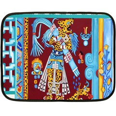 Mexico Puebla Mural Ethnic Aztec Fleece Blanket (mini)