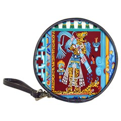 Mexico Puebla Mural Ethnic Aztec Classic 20 Cd Wallets