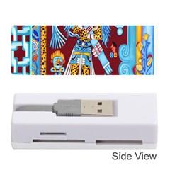 Mexico Puebla Mural Ethnic Aztec Memory Card Reader (stick)