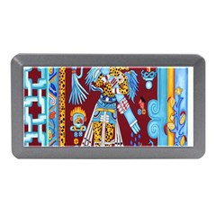 Mexico Puebla Mural Ethnic Aztec Memory Card Reader (mini)
