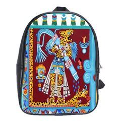 Mexico Puebla Mural Ethnic Aztec School Bag (xl)