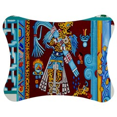 Mexico Puebla Mural Ethnic Aztec Jigsaw Puzzle Photo Stand (bow)