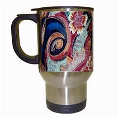 Indonesia Bali Batik Fabric Travel Mugs (white)