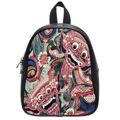 Indonesia Bali Batik Fabric School Bag (small)