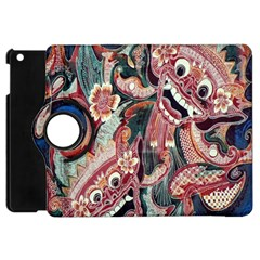 Indonesia Bali Batik Fabric Apple Ipad Mini Flip 360 Case