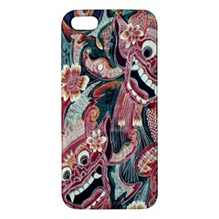 Indonesia Bali Batik Fabric Iphone 5s/ Se Premium Hardshell Case