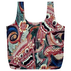 Indonesia Bali Batik Fabric Full Print Recycle Bags (l)