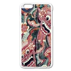 Indonesia Bali Batik Fabric Apple Iphone 6 Plus/6s Plus Enamel White Case
