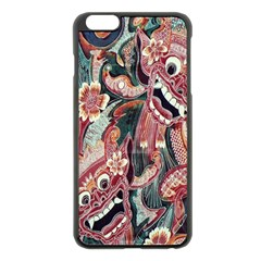 Indonesia Bali Batik Fabric Apple Iphone 6 Plus/6s Plus Black Enamel Case