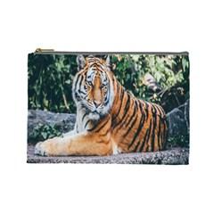 Animal Big Cat Safari Tiger Cosmetic Bag (large)