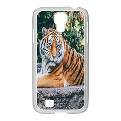 Animal Big Cat Safari Tiger Samsung Galaxy S4 I9500/ I9505 Case (white)