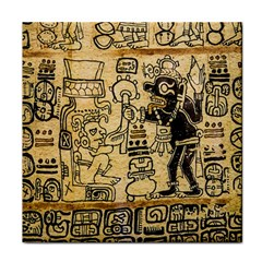 Mystery Pattern Pyramid Peru Aztec Font Art Drawing Illustration Design Text Mexico History Indian Face Towel