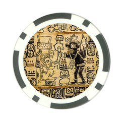 Mystery Pattern Pyramid Peru Aztec Font Art Drawing Illustration Design Text Mexico History Indian Poker Chip Card Guard (10 Pack)