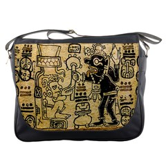 Mystery Pattern Pyramid Peru Aztec Font Art Drawing Illustration Design Text Mexico History Indian Messenger Bags