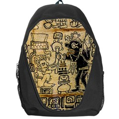 Mystery Pattern Pyramid Peru Aztec Font Art Drawing Illustration Design Text Mexico History Indian Backpack Bag