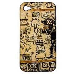 Mystery Pattern Pyramid Peru Aztec Font Art Drawing Illustration Design Text Mexico History Indian Apple Iphone 4/4s Hardshell Case (pc+silicone)