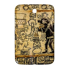 Mystery Pattern Pyramid Peru Aztec Font Art Drawing Illustration Design Text Mexico History Indian Samsung Galaxy Note 8 0 N5100 Hardshell Case