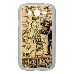 Mystery Pattern Pyramid Peru Aztec Font Art Drawing Illustration Design Text Mexico History Indian Samsung Galaxy Grand Duos I9082 Case (white)