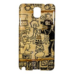 Mystery Pattern Pyramid Peru Aztec Font Art Drawing Illustration Design Text Mexico History Indian Samsung Galaxy Note 3 N9005 Hardshell Case