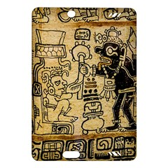 Mystery Pattern Pyramid Peru Aztec Font Art Drawing Illustration Design Text Mexico History Indian Amazon Kindle Fire Hd (2013) Hardshell Case