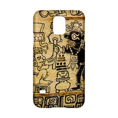 Mystery Pattern Pyramid Peru Aztec Font Art Drawing Illustration Design Text Mexico History Indian Samsung Galaxy S5 Hardshell Case