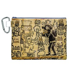 Mystery Pattern Pyramid Peru Aztec Font Art Drawing Illustration Design Text Mexico History Indian Canvas Cosmetic Bag (xl)