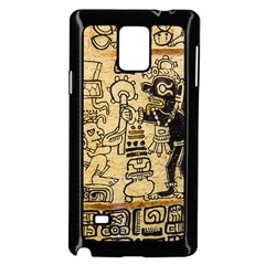 Mystery Pattern Pyramid Peru Aztec Font Art Drawing Illustration Design Text Mexico History Indian Samsung Galaxy Note 4 Case (black)