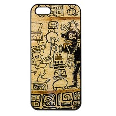 Mystery Pattern Pyramid Peru Aztec Font Art Drawing Illustration Design Text Mexico History Indian Apple Iphone 5 Seamless Case (black)