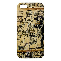 Mystery Pattern Pyramid Peru Aztec Font Art Drawing Illustration Design Text Mexico History Indian Iphone 5s/ Se Premium Hardshell Case