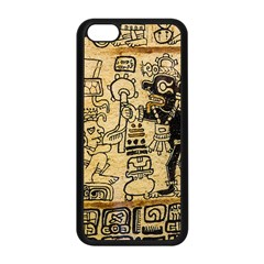 Mystery Pattern Pyramid Peru Aztec Font Art Drawing Illustration Design Text Mexico History Indian Apple Iphone 5c Seamless Case (black)