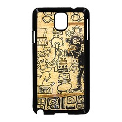 Mystery Pattern Pyramid Peru Aztec Font Art Drawing Illustration Design Text Mexico History Indian Samsung Galaxy Note 3 Neo Hardshell Case (black)