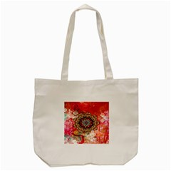Mandala Art Design Pattern Ethnic Tote Bag (cream)