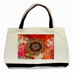 Mandala Art Design Pattern Ethnic Basic Tote Bag