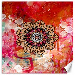 Mandala Art Design Pattern Ethnic Canvas 12  X 12