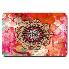 Mandala Art Design Pattern Ethnic Large Doormat