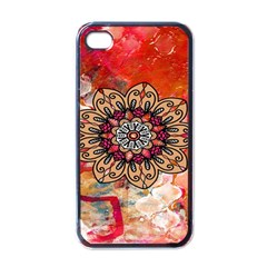 Mandala Art Design Pattern Ethnic Apple Iphone 4 Case (black)