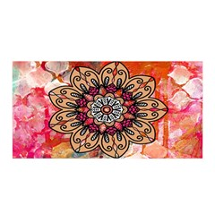 Mandala Art Design Pattern Ethnic Satin Wrap